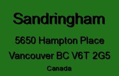 Sandringham 5650 HAMPTON V6T 2G5