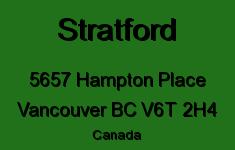Stratford 5657 HAMPTON V6T 2H4