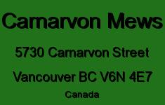 Carnarvon Mews 5730 CARNARVON V6N 4E7