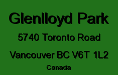 Glenlloyd Park 5740 TORONTO V6T 1L2