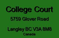 College Court 5759 GLOVER V3A 8M8