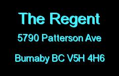 The Regent 5790 PATTERSON V5H 4H6