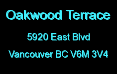 Oakwood Terrace 5920 EAST V6M 3V4