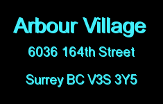 Arbour Village 6036 164TH V3S 3Y5
