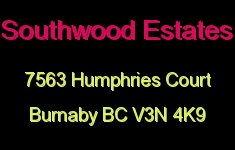 Southwood Estates 7563 HUMPHRIES V3N 4K9