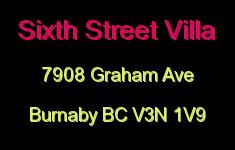 Sixth Street Villa 7908 GRAHAM V3N 1V9