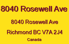 8040 Rosewell Ave 8040 ROSEWELL V7A 2J4