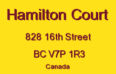 Hamilton Court 828 16TH V7P 1R3