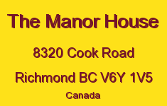 The Manor House 8320 COOK V6Y 1V5