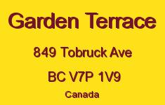 Garden Terrace 849 TOBRUCK V7P 1V9