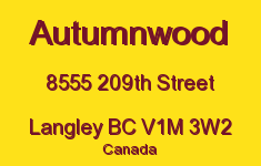 Autumnwood 8555 209TH V1M 3W2