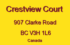 Crestview Court 907 CLARKE V3H 1L6