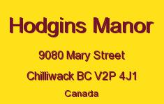 Hodgins Manor 9080 MARY V2P 4J1