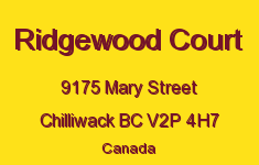 Ridgewood Court 9175 MARY V2P 4H7