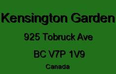 Kensington Garden 925 TOBRUCK V7P 1V9