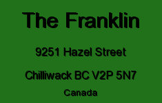 The Franklin 9251 HAZEL V2P 5N7