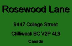 Rosewood Lane 9447 COLLEGE V2P 4L9