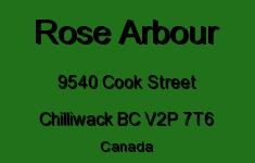 Rose Arbour 9540 COOK V2P 7T6