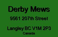 Derby Mews 9561 207TH V1M 2P3