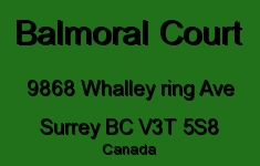 Balmoral Court 9868 WHALLEY RING V3T 5S8
