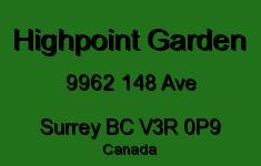 Highpoint Garden 9962 148 V3R 0P9