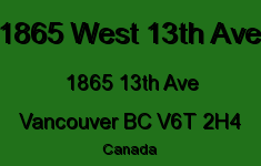 1865 West 13th Ave 1865 13TH V6T 2H4