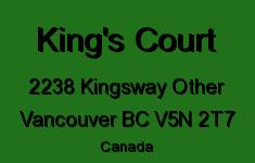 King's Court 2238 KINGSWAY V5N 2T7