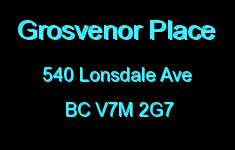 Grosvenor Place 540 LONSDALE V7M 2G7