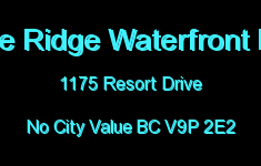 Sunrise Ridge Waterfront Resort 1175 RESORT V9P 2E2
