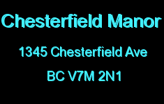 Chesterfield Manor 1345 CHESTERFIELD V7M 2N1