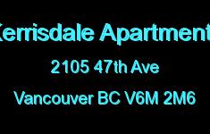 Kerrisdale Apartments 2105 47TH V6M 2M6
