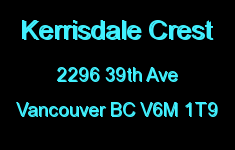 Kerrisdale Crest 2296 39TH V6M 1T9