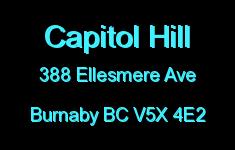 Capitol Hill 388 ELLESMERE V5X 4E2