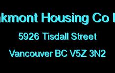 Oakmont Housing Co Ltd 5926 TISDALL V5Z 3N2