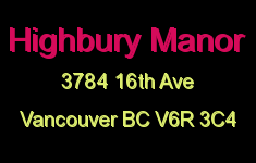 Highbury Manor 3784 16TH V6R 3C4