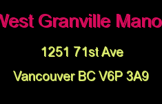 West Granville Manor 1251 71ST V6P 3A9