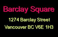 Barclay Square 1274 BARCLAY V6E 1H3