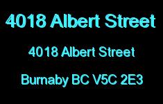 4018 Albert Street 4018 ALBERT V5C 2E3