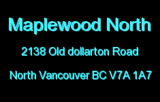 Maplewood North 2138 OLD DOLLARTON V7A 1A7