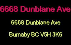 6668 Dunblane Ave 6668 DUNBLANE V5H 3K6