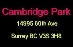 Cambridge Park 14995 60th V3S 3H8