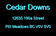 Cedar Downs 12635 190A V0V 0V0