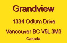Grandview 1334 ODLUM V5L 3M3