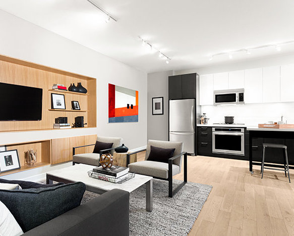 396 East 1st AVE, Vancouver, BC Living Room Rendering!