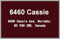 6460 Cassie 6460 CASSIE V5H 2W3