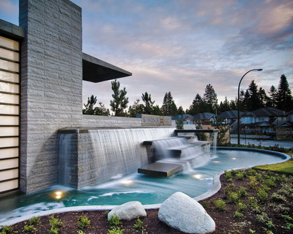 3093 Windsor Gate, Coquitlam, BC V3B 4R8, Canada Water Feature!