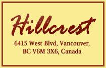 Hillcrest 6415 WEST BOULEVARD V6M 3X6