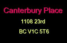 Canterbury Place 1108 23RD V1C 5T6