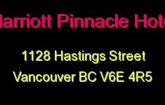 Marriott Pinnacle Hotel 1128 HASTINGS V6E 4R5