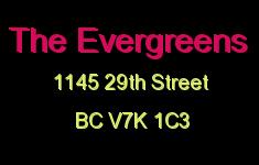 The Evergreens 1145 29TH V7K 1C3